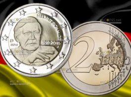 2 евро Хельмут Шмидт