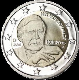 2 евро Хельмут Шмидт, реверс