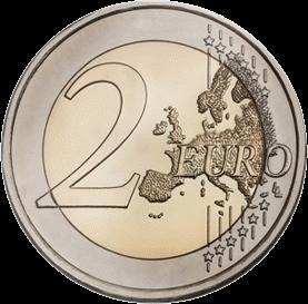2 евро 2018 года, аверс