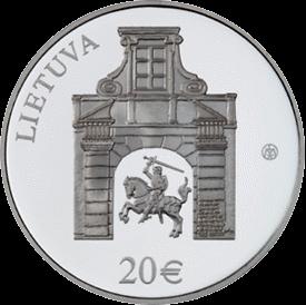 20 евро Дворец Радзивилла в Вильнюсе, аверс