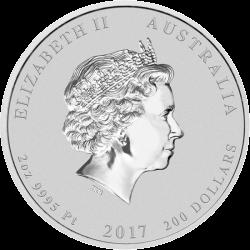 200 долларов 70 лет королевской свадьбы, платина, аверс