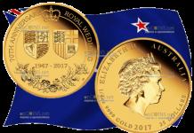25 долларов 70 лет королевской свадьбы, золото