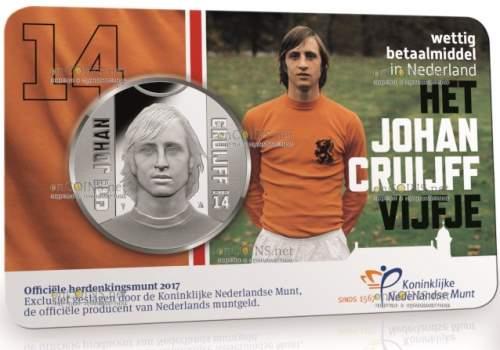 5 евро Йохан Кройфф, 2017 - подарочная упаковка