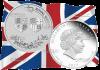 Австралия монета 1 доллар 70 лет королевской свадьбы, серебро