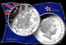 Австралия выпускает в обращение монету 1 доллар Год собаки, серебро