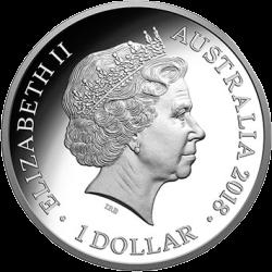 Австралия выпускает в обращение монету 1 доллар Год собаки, серебро, аверс
