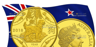 Австралия выпускает в обращение монету 10 долларов Год собаки, золото