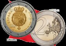 монета 2 евро 50-летие короля Филиппа VI