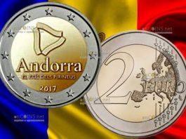 монета 2 евро Андорра страна Пиренеев