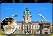 монета 2 евро дворец Шарлоттенбург в Берлине 2018 год