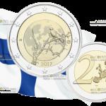 Финляндия планирует выпустить ходовую монету 2 евро Финская природа Ворон на дереве