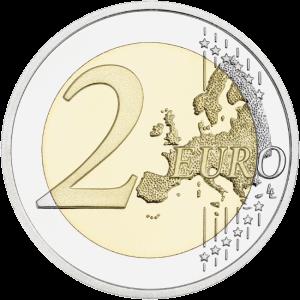 монета 2 евро, аверс, 2ЕА