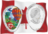 монета 20 долларов 150 лет Канады