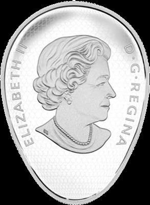 монета 20 долларов 150 лет Канады, аверс