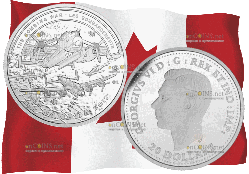 монета 20 долларов Бомбардировочная война