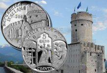 монета 5 евро город Тренто