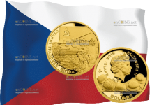 монета 75 лет Сталинградской битвы, золото