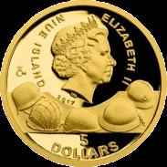 монета 75 лет Сталинградской битвы, золото, аверс