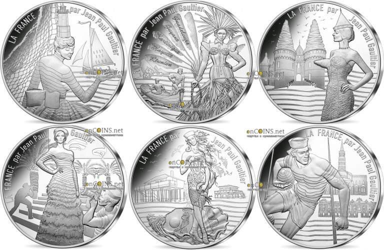 Монеты коллекции Жан-Поль Готье Осень-Зима €10 - часть 2