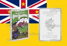 Ниуэ монета 2 доллара Три поросенка