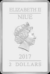 Ниуэ монета 2 доллара Три поросенка, аверс