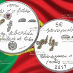 В Португалии выпустили уникальную серебряную монету 5 евро Будущее