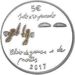Португалия - серебряная монета 5 евро Будущее, аверс