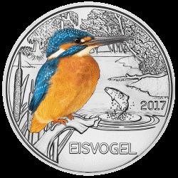 монета 3 евро Зимородок, реверс