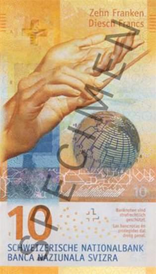 10 франков Швейцарии 2017 года, лицевая сторона