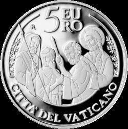 5 евро 50-й Всемирный день мира, аверс