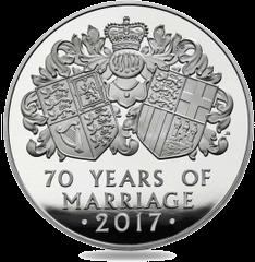 Англия инвестиционные монеты к 70-летию бракосочетания королевы Елизавета II и принца Филиппа, реверс