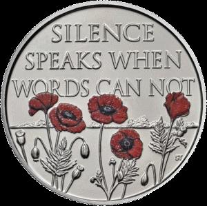 Англия монета 5 фунтов Конец войне, реверс