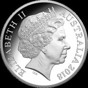 Австралия монета 1 доллар чемпионат Мира по Футболу 2018, серебро, аверс