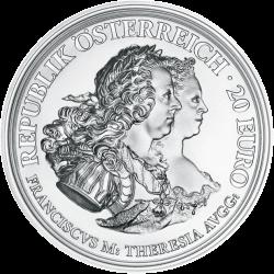 Австрии монета 20 евро императрица Мария Терезия, аверс