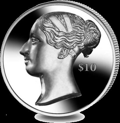 Британские Виргинские монета 10 долларов королева Виктория, реверс