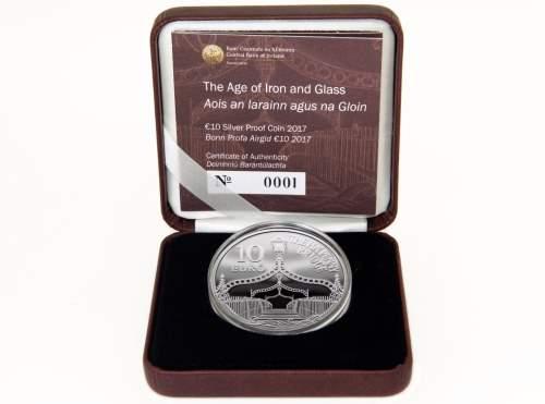 Ирландия монета 10 евро Полпенни мост, подарочная упаковка