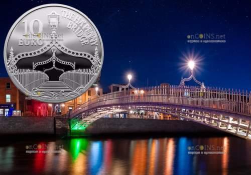 Ирландия монета 10 евро Полпенни мост