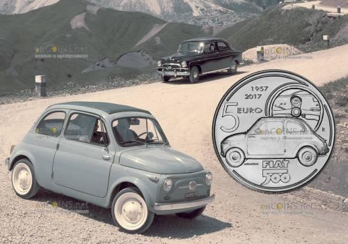 Италия монета 5 евро Fiat 500