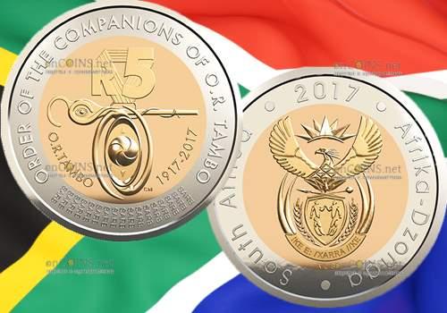 ЮАР монета 5 рандов Орден сподвижников Тамбо
