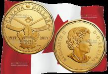 Канада монета 1 доллар 100 лет Торонто Мейпл Лифс