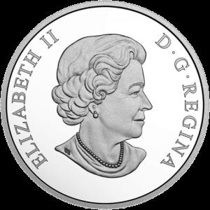 Канада монета 15 долларов Год Собаки, аверс