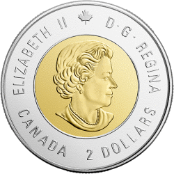 Канада монета 2 доллара битва при Вими, аверс