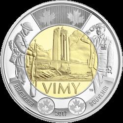 Канада монета 2 доллара битва при Вими, реверс