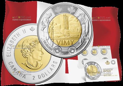 Канада монета 2 доллара битва при Вими