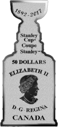 Канада монета 50 долларов Кубок Стенли, аверс