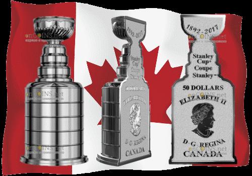 Канада монета 50 долларов Кубок Стенли