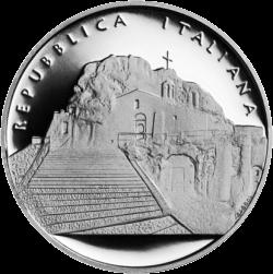 монета 10 евро город Матера, аверс