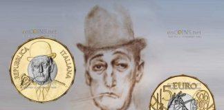 монета 5 евро комик Тото