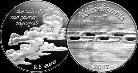 монету 2,5 евро Эдуард Вейденбаум, первый вид