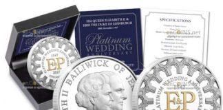 Нормандские острова отчеканили серию монет 70 лет бракосочетания Елизаветы II и герцога Эдинбургского